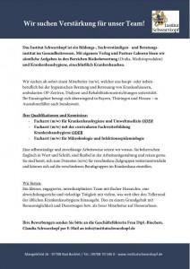 Anzeige Institut Schwarzkopf-Facharzt gesucht